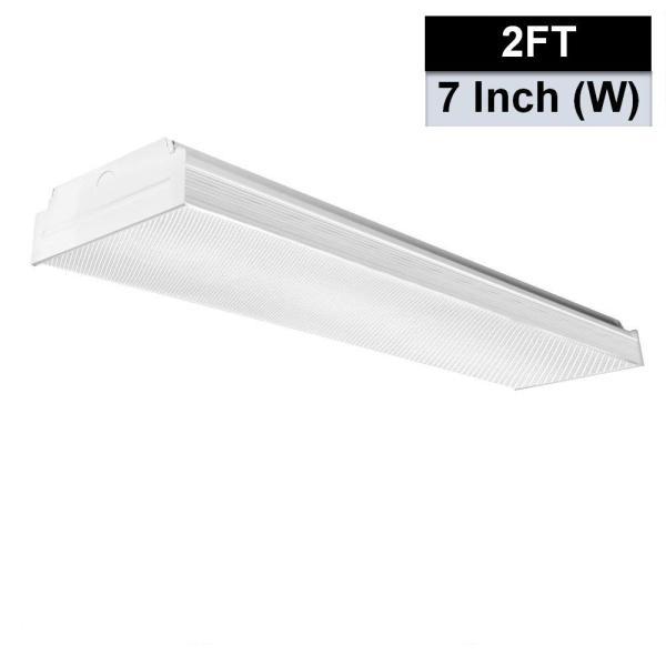 AntLux 2FT LED Wraparound Flush Mount LED Garage Lights, 20W 2400LM, 4000K Neutral White, 2 Foot LED Wrap Light, Integrated Linear Ceiling Lighting Fixture for Kitchen, Laundry, Workshop, Closet