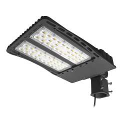 AntLux LED Parking Lot Lights 200W Shoebox Pole Light, 26000lm, 5000K, IP66 Waterproof, 600W MH/HPS Replacement, Outdoor Area Street Security Lighting Fixture, Slip Fitter Mount, Photocell Included