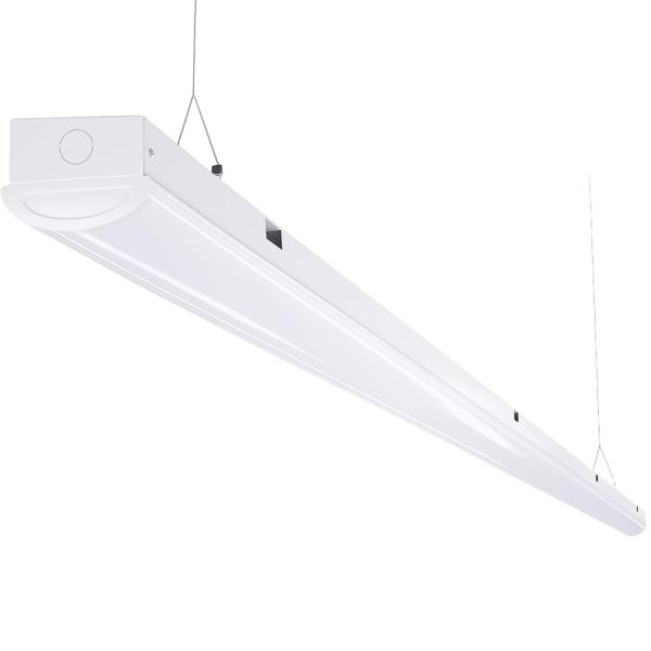 AntLux 110W LED Shop Light 8FT Linear Strip Lights Linkable, 12000 Lumens, 5000K, 8 Foot Garage Lights, Surface Mount and Hanging Ceiling Lighting Fixture, Fluorescent Tube Replacement