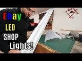 How to install flush mount led shop lights