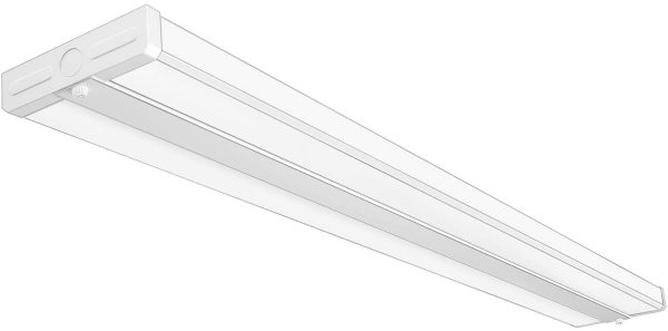 AntLux 4FT LED Light Fixtures 50W Wraparound LED Light 5500lm, 4000K Neutral White, Ultra Slim 48 inch Office Ceiling Wrap Light Flush Mount, 4 Foot LED Shop Light for Garage, Kitchen, Workshop
