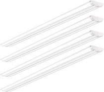 AntLux 110W 8FT LED Shop Lights Ultra Slim LED Wraparound, 12600LM, 5000K, 8 Foot Strip Light, Flush Mount Garage Office Warehouse Ceiling Lighting Fixtures, 8' Fluorescent Tube Replacement, 4 Pack