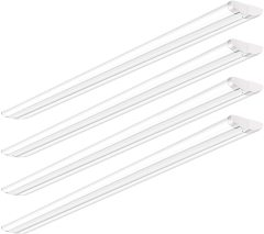 AntLux 8 Foot LED Shop Lights Ultra Slim LED Wraparound, 110W, 12600LM, 5000K, 8 Foot Strip Light, Flush Mount Garage Office Warehouse Ceiling Lighting Fixtures, 8' Fluorescent Tube Replacement, 4 Pack