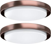 LED Flush Mount Ceiling Light, AntLux 18.5in Dimmable Round Lighting Fixture, 60W 6600lm 4000k Neutral White LED Ceiling Fixtures Surface Mount for Kitchen, Living Room, Bedroom, 2 Pack (Bronze Body)