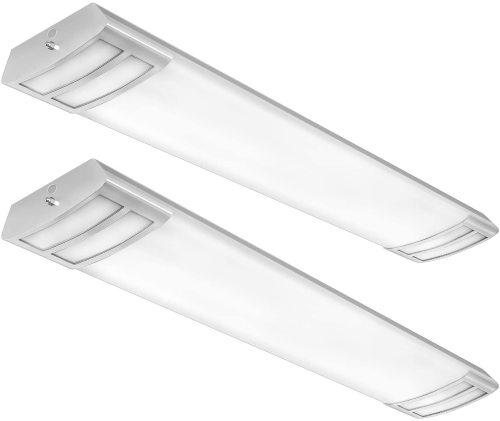 Antlux 4ft Led Kitchen Light Fixtures Linear Flush Mount Ceiling Lights