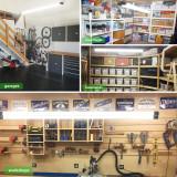 AntLux 4FT Linkable LED Shop Light, 50W for Garage, 5600 LM 4 Foot LED Light Fixtures for Workbench, 5000K LED Workshop Light with Plug, Pull Chain, Hanging Mount