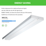 AntLux 4FT LED Wraparound Light 50W 4 Foot LED Shop Light for Garage, Eye Care, 5500lm 4000K LED Wrap Light 48 Inch Flush Mount Ceiling Light for Kitchen, Office, Laundry