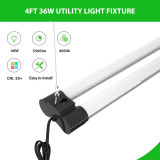 4FT Linkable LED Shop Light, FaithSail 50W for Garage, 5600 LM 4 Foot LED Light Fixtures for Workbench, 5000K LED Workshop Light with Plug, Pull Chain, Hanging Mount