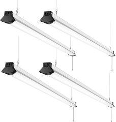 4FT Linkable LED Shop Light, FaithSail 50W for Garage, 5600 LM 4 Foot LED Light Fixtures for Workbench, 5000K LED Workshop Light with Plug, Pull Chain, Hanging Mount