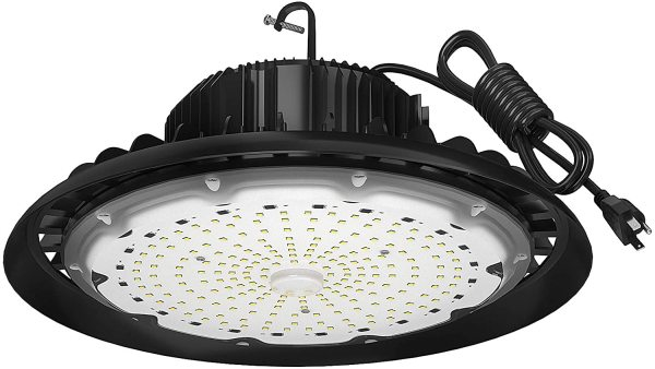 AntLux UFO LED High Bay Light, 200W (800W HID/HPS Replacement), 24000LM, 5000K, IP65 Waterproof, US Plug, LED Warehouse Lights, Industrial Workshop High Bay LED Lighting Fixtures