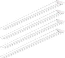 AntLux 8 Foot LED Shop Lights Ultra Slim LED Wraparound, 110W, 12600LM, 5000K, 8 Foot Strip Light, Flush Mount Garage Office Warehouse Ceiling Lighting Fixtures, 8' Fluorescent Tube Replacement, 4 Pack