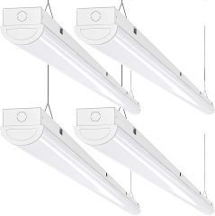 AntLux 8FT LED Shop Lights 110W LED Linear Strip Lights, 12000 Lumens, 5000K, 8 Foot Garage Lights, Surface Mount and Hanging Ceiling Lighting Fixture, Fluorescent Tube Replacement, 4 Pack
