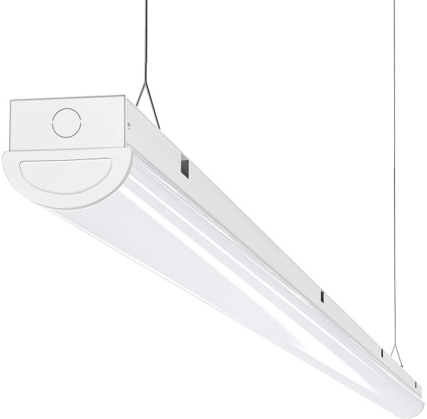 AntLux 8FT LED Shop Light Linear Strip Lights Linkable, 110W, 12000 Lumens, 5000K, 8 Foot LED Garage Lights, Surface Mount and Hanging Ceiling Lighting Fixture, Fluorescent tube Replacement