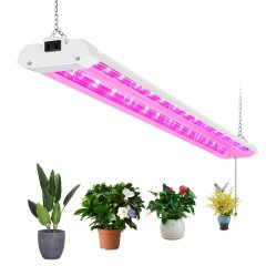 ANTLUX 4ft LED Grow Lights 50W Full Spectrum Integrated Growing Lamp Fixtures for Greenhouse Hydroponic Indoor Plant Seedling Veg and Flower, Plug in, ON/Off Pull Chain Included