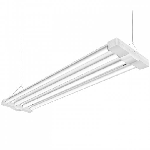 AntLux 80W 4ft Low Bay LED Utility Shop Lights, 9000 Lumens, 5000K, LED Garage Lights 4 Foot Linear High Bay Workshop Ceiling Light Fixture, Fluorescent Tube Replacement, Plug in with on/Off Switch