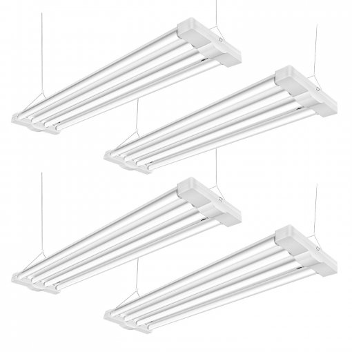 ANTLUX 80W 4ft LED Utility Low Bay Shop Lights for Garage, 9000 Lumens, 5000K, 4 Foot Linear High Bay Workshop Ceiling Light Fixture, Fluorescent Tube Replacement, Plug in with on/Off Switch, 4 Pack