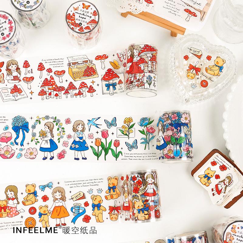 【Infeel.me】マスキングテープ 时光机系列 水晶油墨PET胶带 6cmx2m