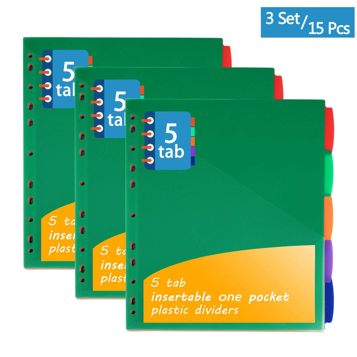 Plastic Binder Dividers With Pockets
