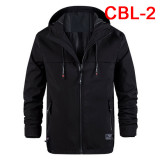 Men's Hooded Jacket Men Mens Casual Coat Male Black Softshell Jackets