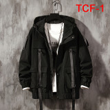 Men's Hooded Jacket Autumn Casual Jacket  Coat Korean Hip Hop Top Zipper