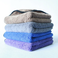 40x40cm 80gram long and short hair  high plush  microfiber towel