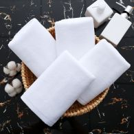 35x75cm 120gsm 32/s hotel bath towel white color