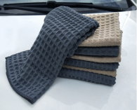 40x40cm 343 gsm Microfiber towel Waffle type