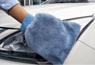 17x20cm 70gram double faced coral velvet car cleaning gloves