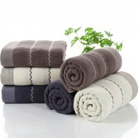 70*140cm 400gram 100% cotton bath towel wave pattern