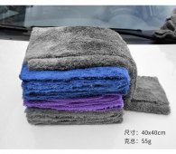 40x40cm 350gsm coral fleece  car detailing and waxing microfiber towel