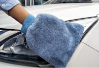 17x20cm 70gram double faced coral velvet car cleaning gloves