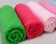 70x90cm 300gsm 189gram weft knitted microfiber towel