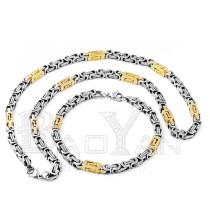 dibujo cadena juegos dorados y plateados de joyas de acero inoxidable