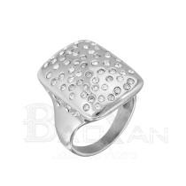 Anillo de  plata de acero con diamantes de moda 2013