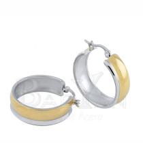 29mm bicolor aros de compra de oro dorado de joyería moderna