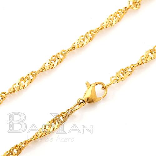 Banado Oro de Acero Cadena