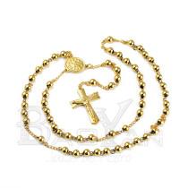 estilo liso rosario dorado de bisutería de moda online