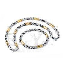 juegos con cadena y pulsera dorado y plateado para hombres