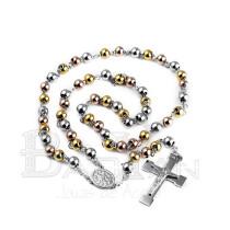 bolitas rosarios de joyas para mujeres en acero dorado