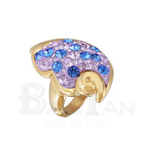 2013 último anillo de compromiso de diseño anillo de acero inoxidable