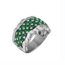Diseno italiano anillos de la joyería de acero con diamant