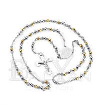 doradas y plateadas bolitas rosarios en venta de acero inoxidable