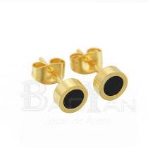 6mm simple pendiente dorado de bisutería online