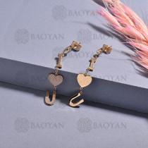 aretes de acero inoxidable para mujerSSEGG175-15661