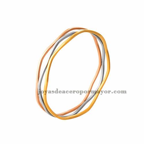 pulsera de tres colores en acero inoxidable para mujer-SSBTG263763