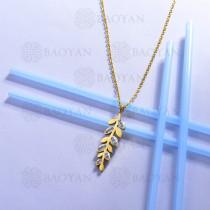 collar de acero inoxidable para mujer -SSNEG143-13096-G