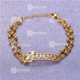 Pulsera con Bolitas Oro Dorado Para Mujer -SSBTG95-6213
