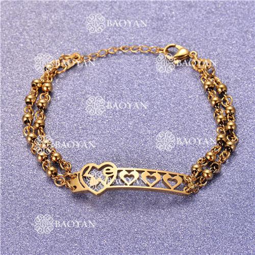 Pulsera con Bolitas Oro Dorado Para Mujer -SSBTG95-6211