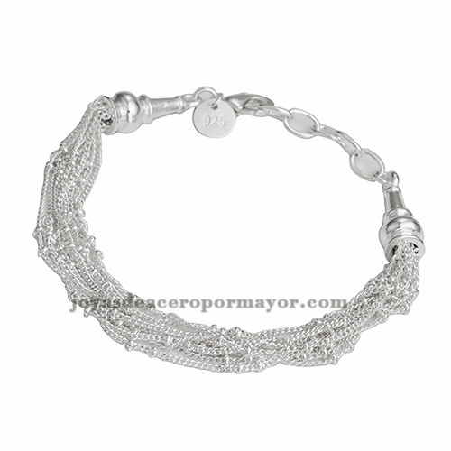 pulsera  de diseno nuevo de color plateado en acero para mujer-BRBTG91131