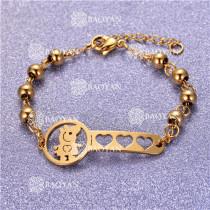 Pulsera con Bolitas Oro Dorado Para Mujer -SSBTG95-6197